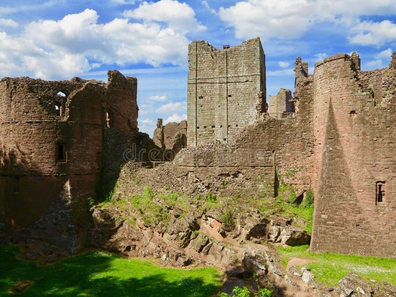 Portret van Goodrich-kasteel royalty-vrije stock afbeelding