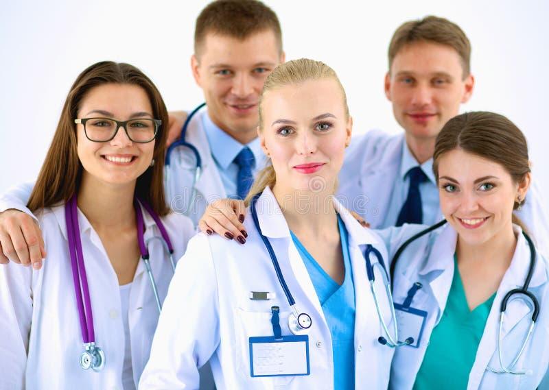 Portret van groep glimlachende het ziekenhuiscollega's royalty-vrije stock fotografie