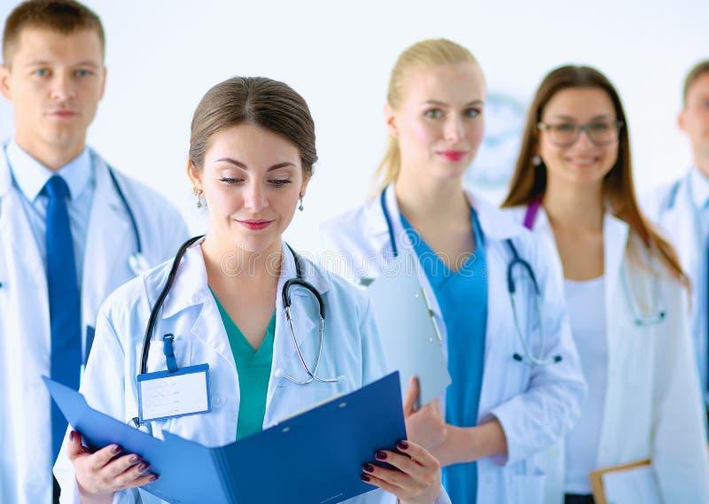 Portret van groep glimlachende het ziekenhuiscollega's royalty-vrije stock foto