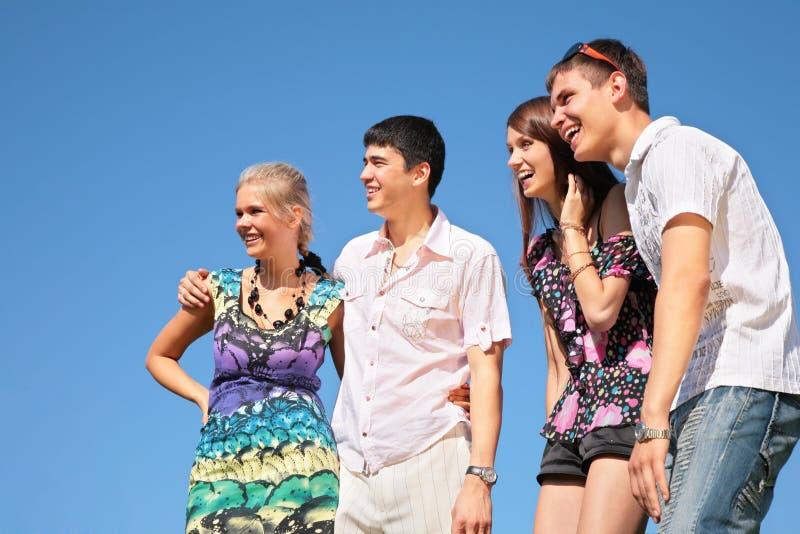 Portret van groep vrienden royalty-vrije stock foto