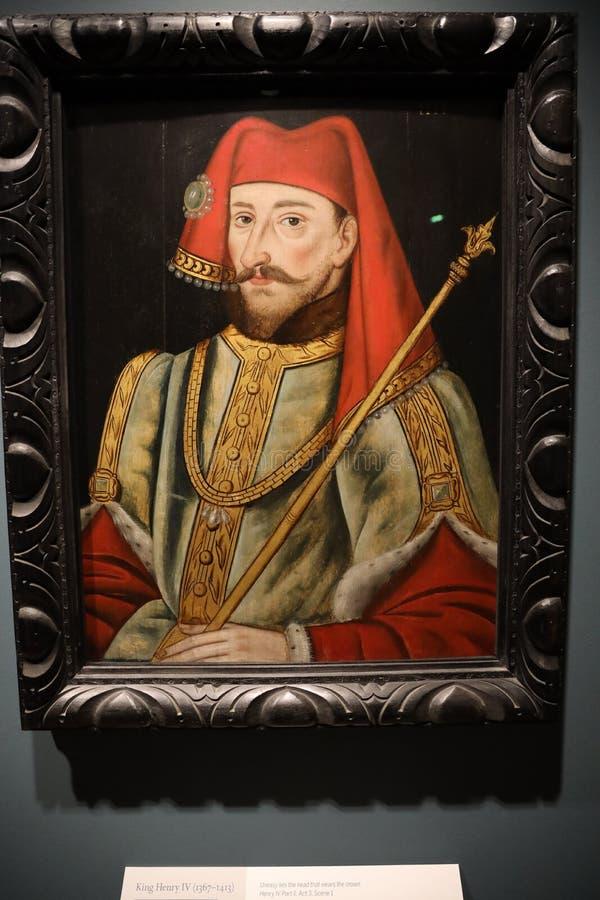 Portret van Henry IV van Engeland stock afbeeldingen