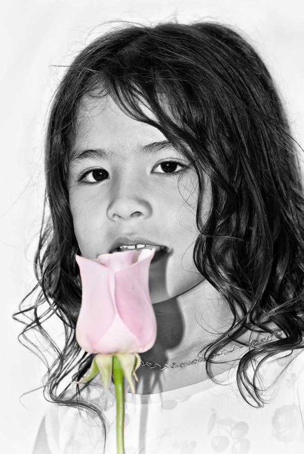 Portret van het aardige Latijns-Amerikaanse meisje stock afbeelding