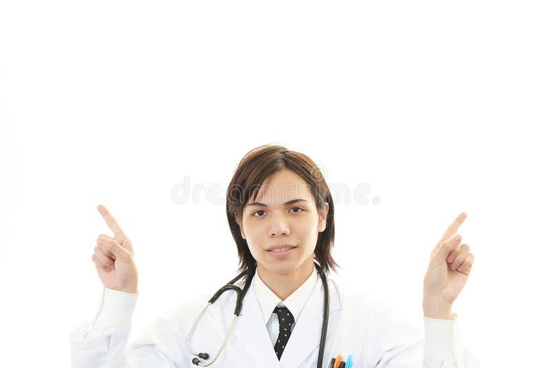 Portret van het Aziatische medische arts richten stock fotografie