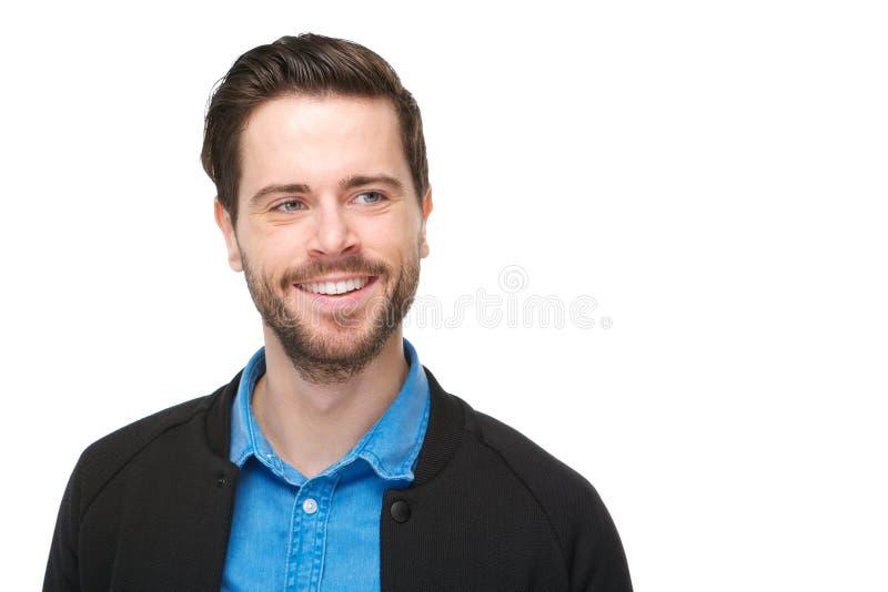Portret van het charmante jonge mens glimlachen royalty-vrije stock afbeelding