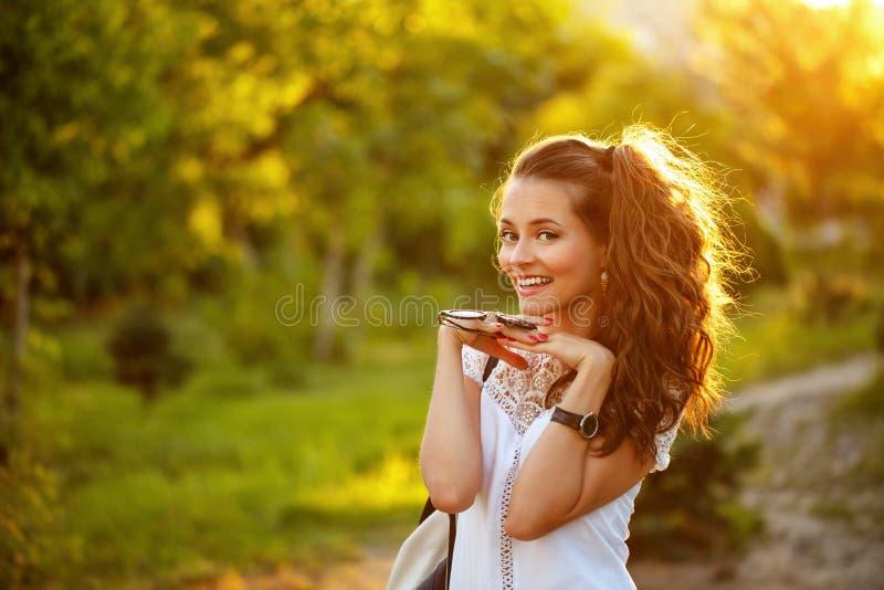 Portret van het Hipster het leuke meisje stock fotografie