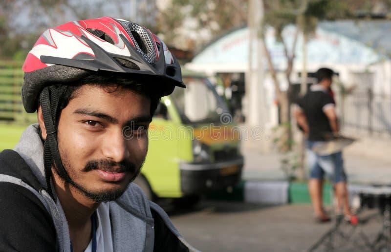 Portret van het Indische mens cirkelen stock foto's