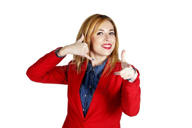 Download Portret Van Het Jonge Bedrijfsvrouw Tonen Die Handteken Tonen Als Stock Foto - Afbeelding bestaande uit hand, leuk: 54079206
