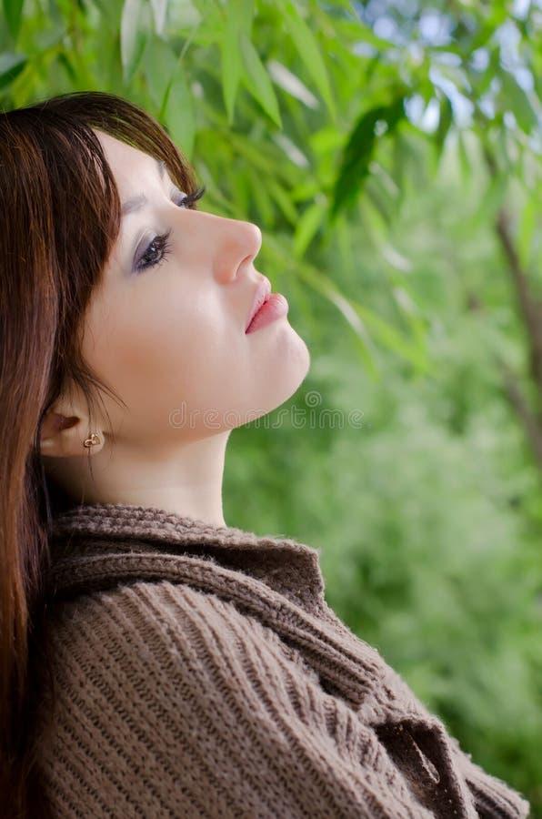 Portret van het jonge meisje stock afbeelding