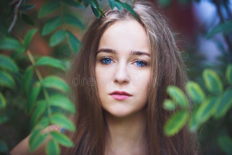 Portret van het jonge meisje royalty-vrije stock foto