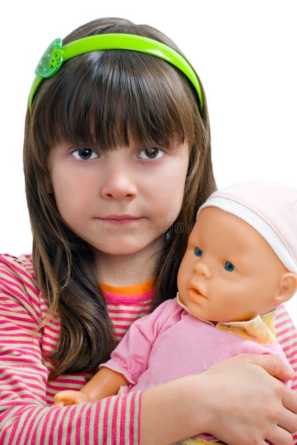 Portret van het kleine meisje royalty-vrije stock afbeeldingen