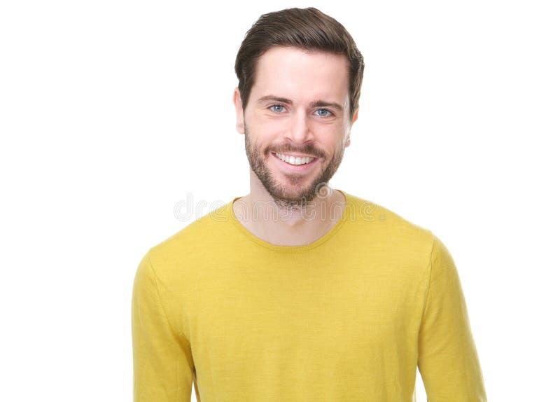 Portret van het knappe jonge mens glimlachen royalty-vrije stock afbeelding