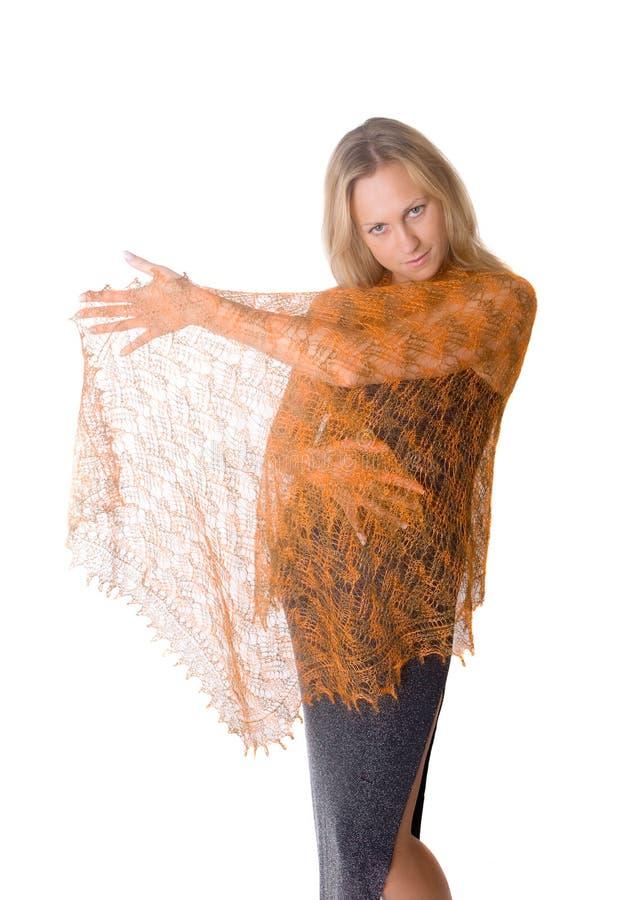 Download Portret Van Het Meisje In Een Tippet Stock Afbeelding - Afbeelding bestaande uit kleding, levensstijlen: 29513577