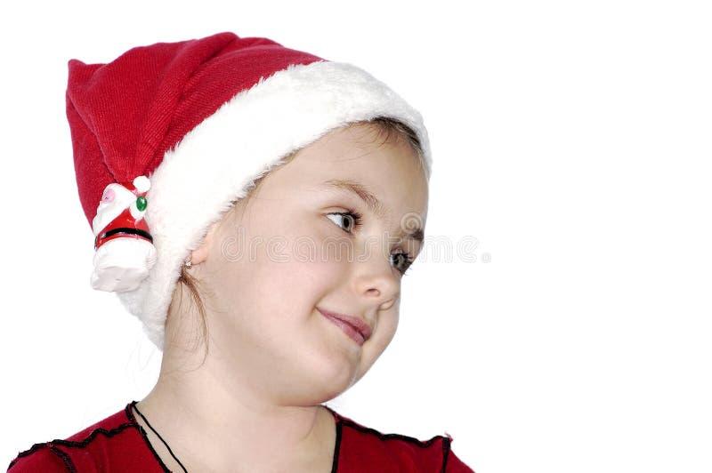 Portret van het meisje voor Kerstmis. stock afbeeldingen