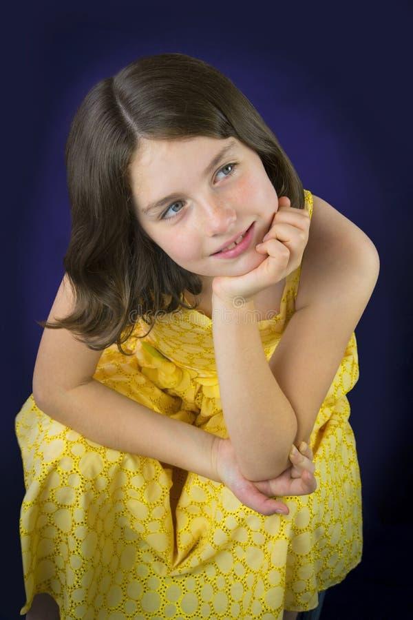 Portret van het mooie meisje glimlachen stock fotografie