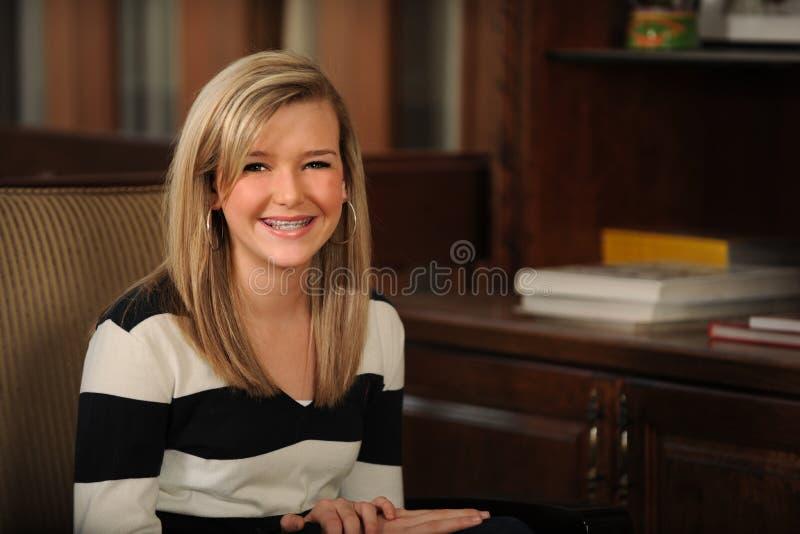 Portret van het Mooie Meisje van de Tiener royalty-vrije stock foto