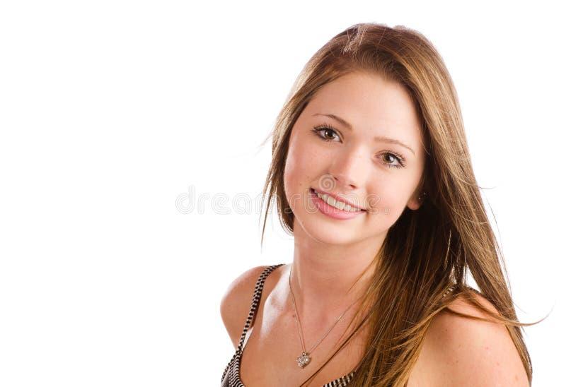 Portret van het mooie tiener glimlachen royalty-vrije stock foto's