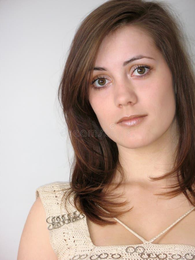 Portret van het peinzende meisje royalty-vrije stock fotografie