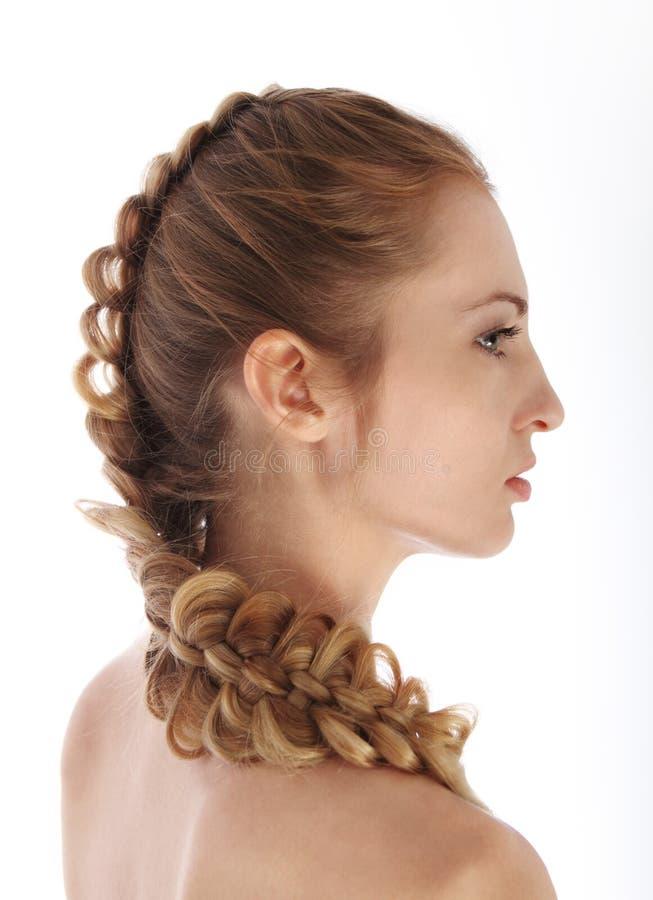 Portret van het schoonheids jonge blonde meisje stock afbeelding