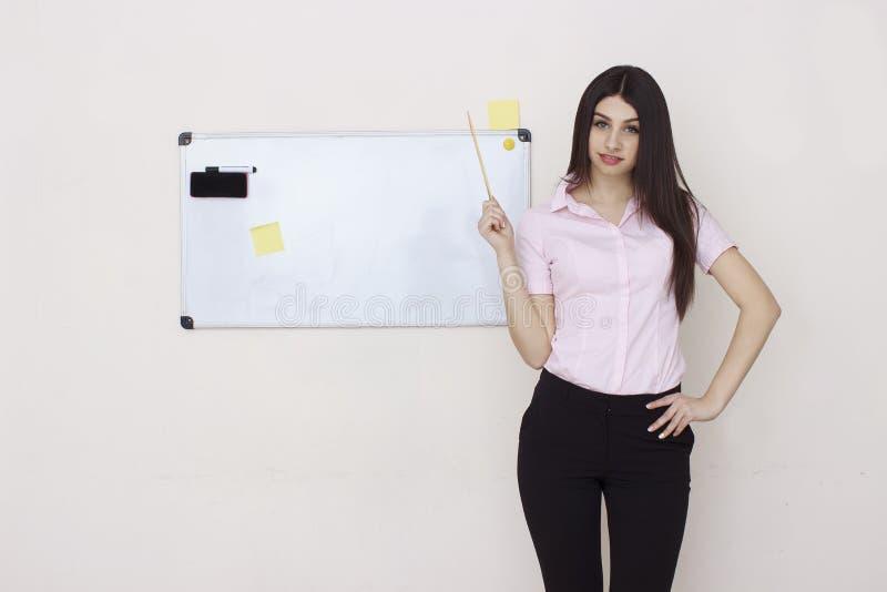 Portret van het trainen van vrouw stock foto