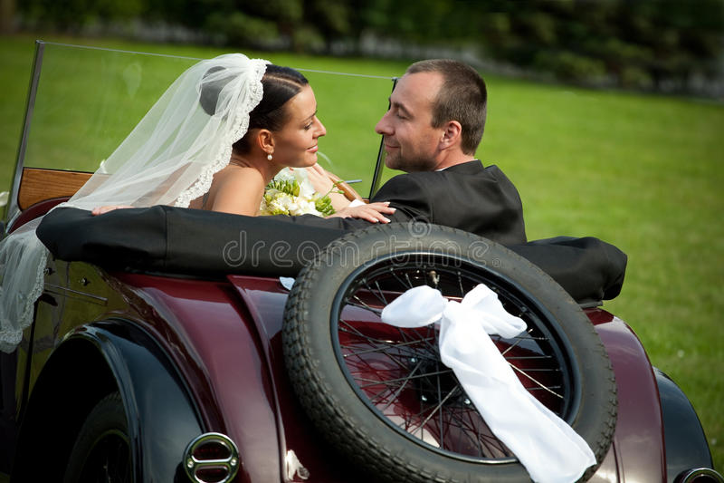Portret van huwelijkspaar royalty-vrije stock afbeeldingen