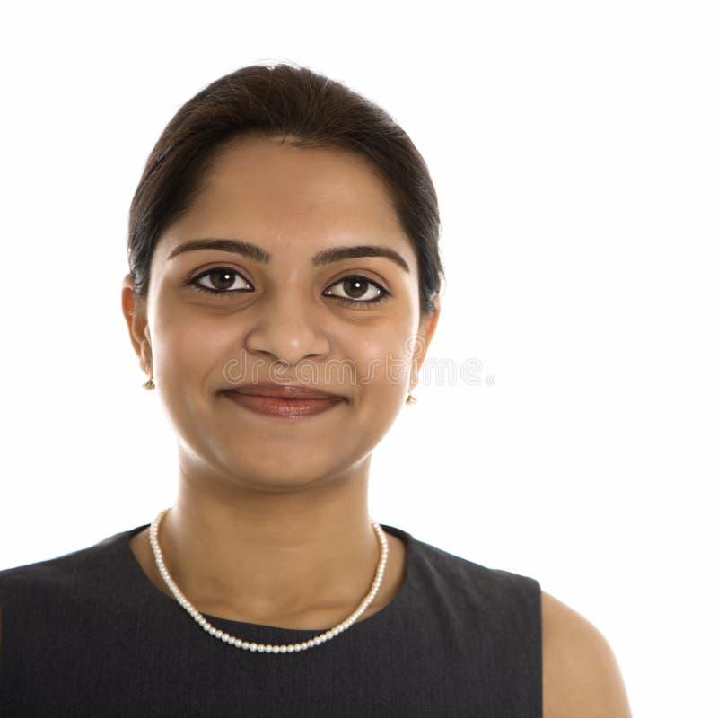 Portret van Indische vrouw. stock foto's