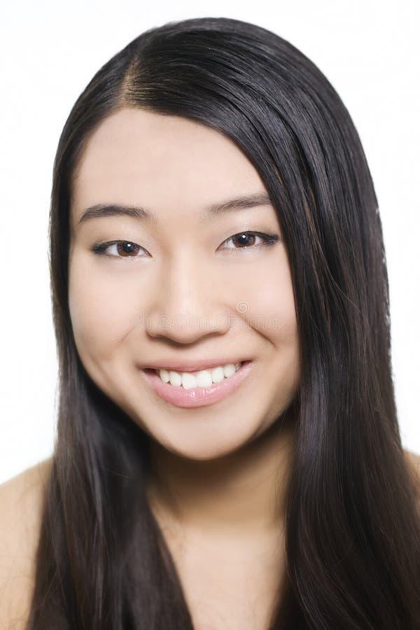 Portret van jong mooi Aziatisch model royalty-vrije stock afbeelding