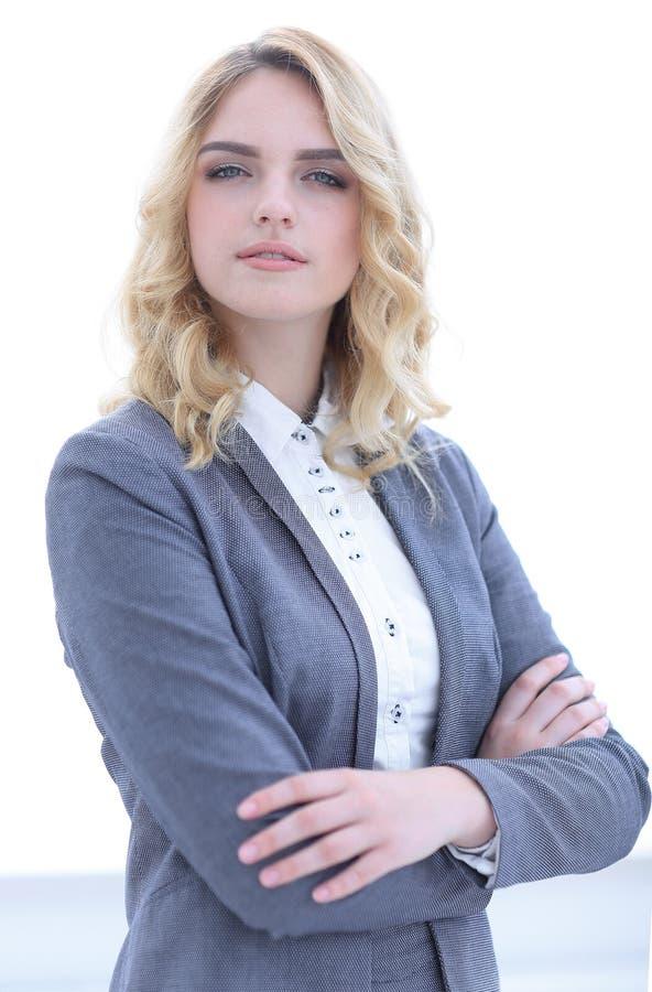 Portret van jonge bedrijfsvrouw stock foto