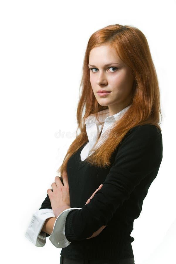 Portret van jonge bedrijfsvrouwen stock afbeelding