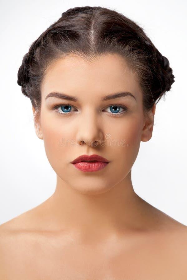 Portret van jonge dame royalty-vrije stock foto's