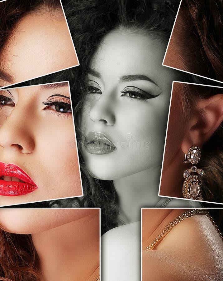 Portret van jonge, gezonde en mooie vrouwenplastische chirurgie, royalty-vrije stock afbeelding