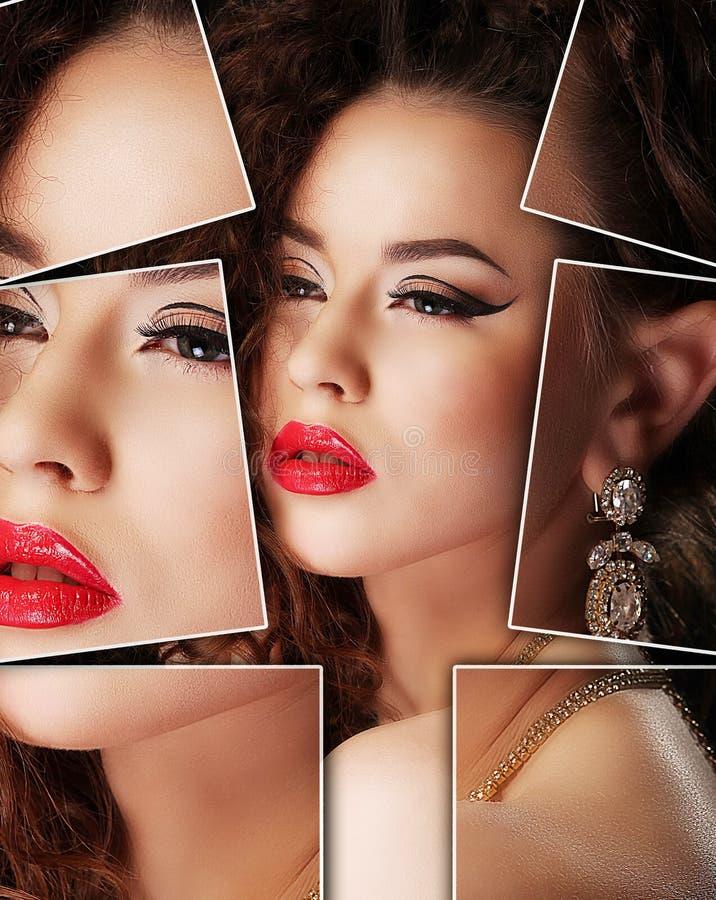 Portret van jonge, gezonde en mooie vrouwenplastische chirurgie, royalty-vrije stock fotografie