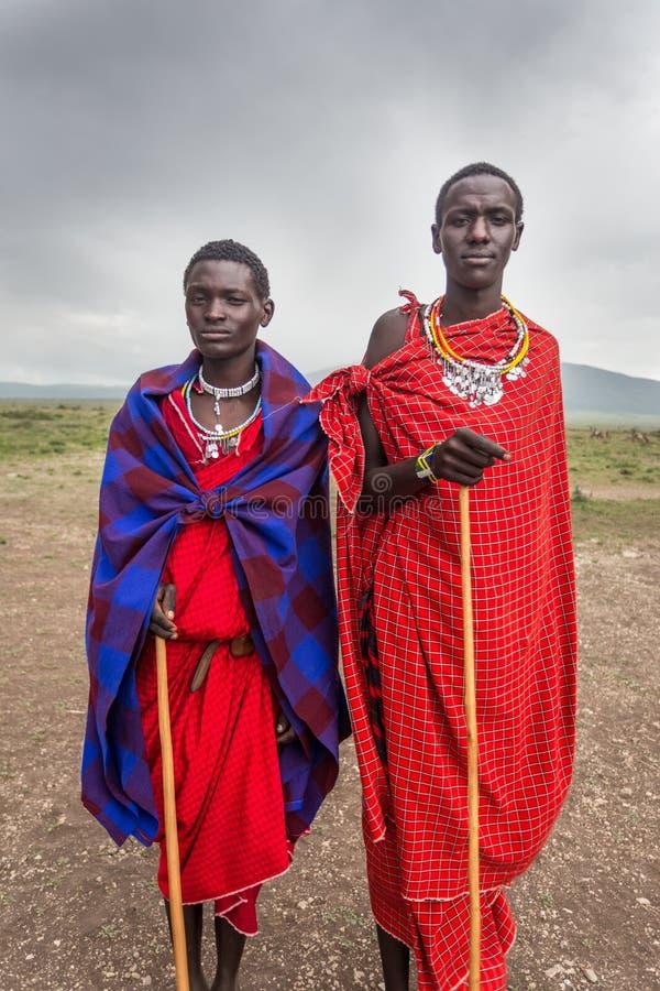 Portret van jonge Masai royalty-vrije stock afbeeldingen
