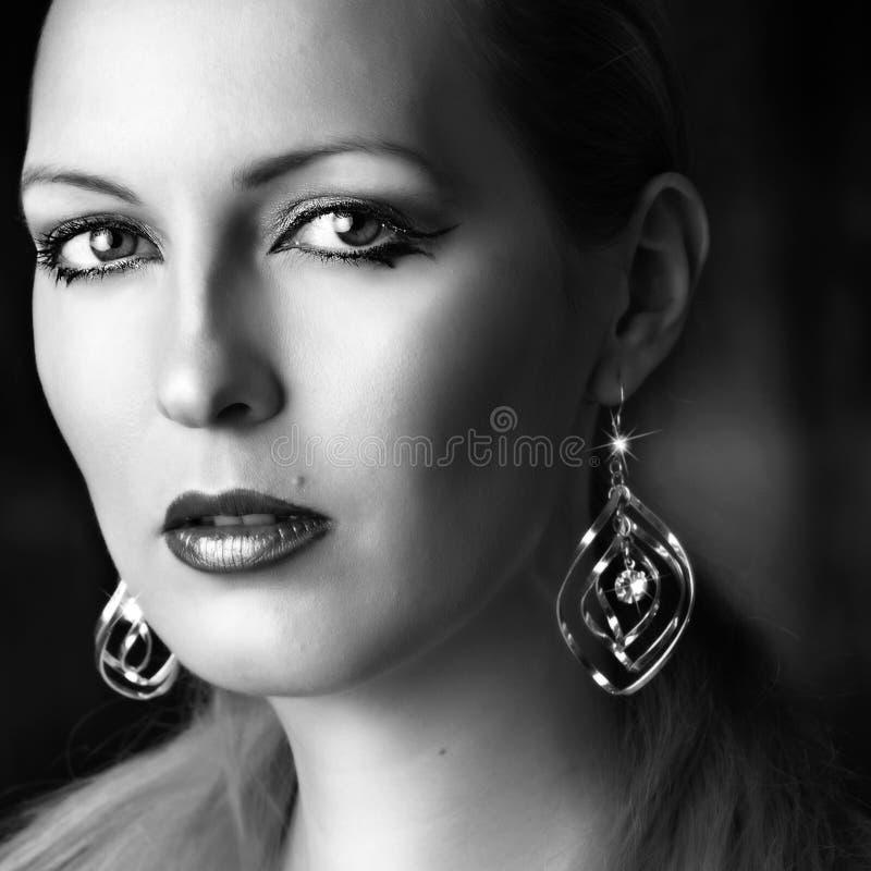 Portret van jonge sexy vrouw stock afbeelding