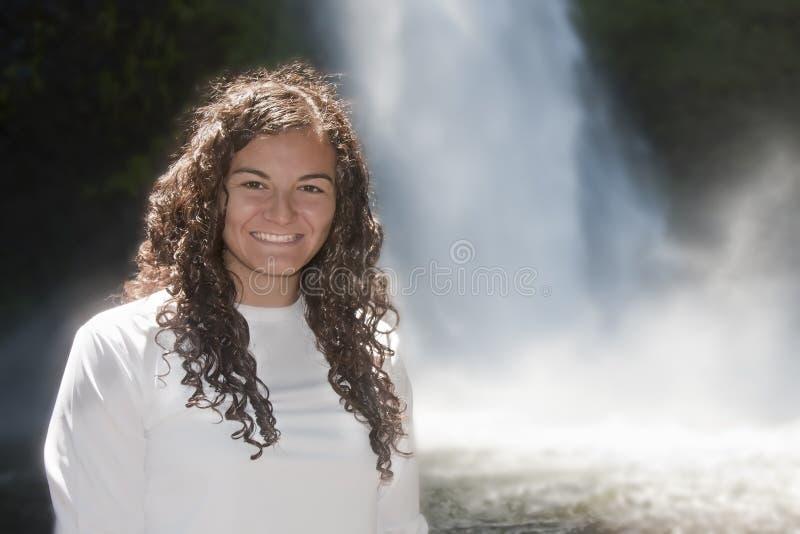 Portret van Jonge Spaanse Brunette stock foto's