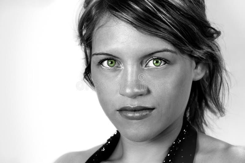 Portret van jonge Vrouw royalty-vrije stock afbeelding