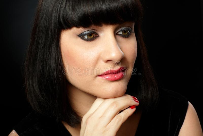 Portret van jonge vrouw stock afbeelding