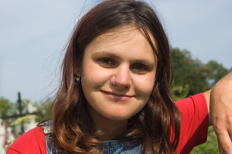 Portret van jonge vrouw stock afbeeldingen