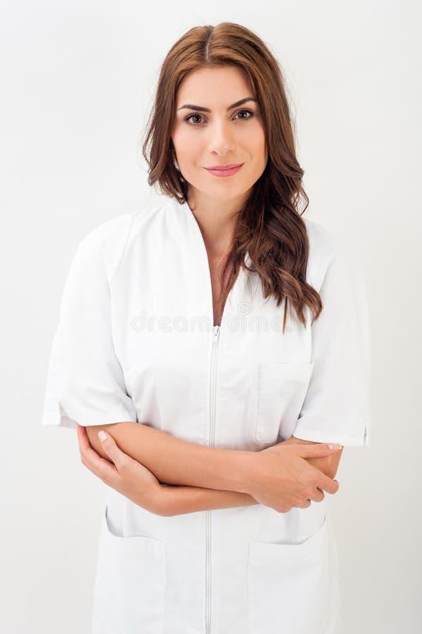 Portret van jonge vrouw arts stock afbeelding