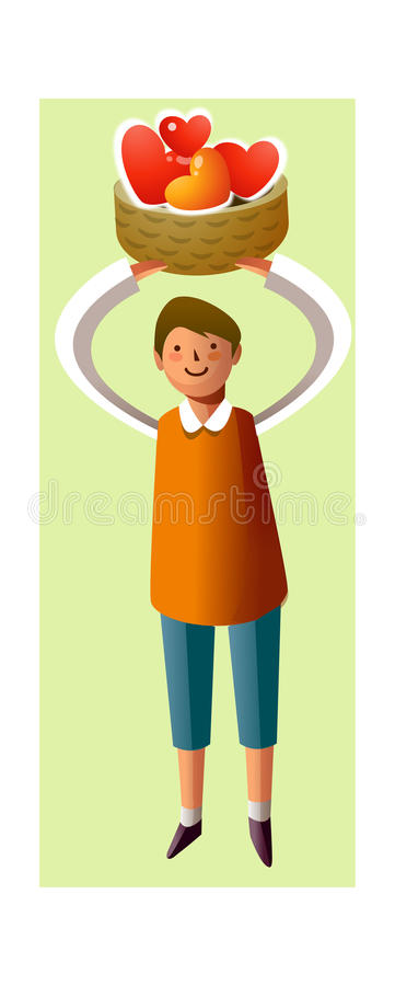 Portret van jongen vector illustratie