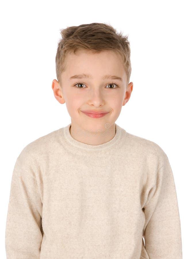 Portret van jongen het glimlachen stock afbeeldingen