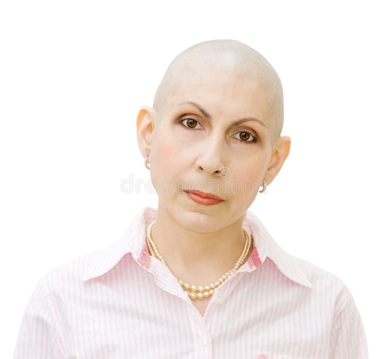 Portret van kankerpatiënt royalty-vrije stock afbeelding