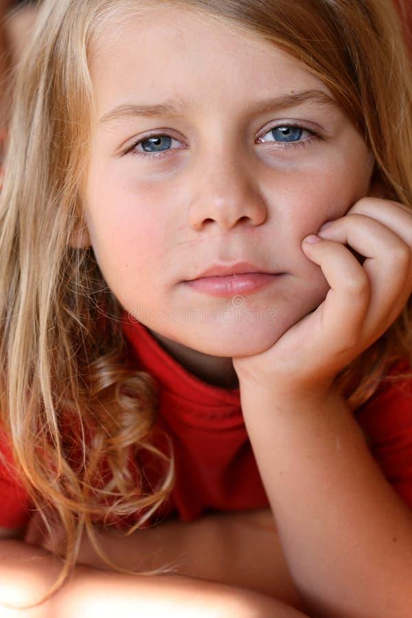 Portret van kind stock fotografie