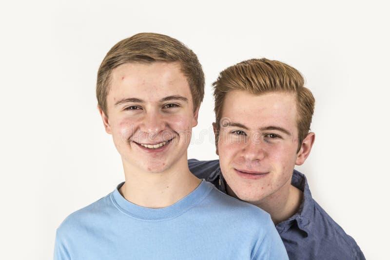 Portret van knappe broers royalty-vrije stock fotografie