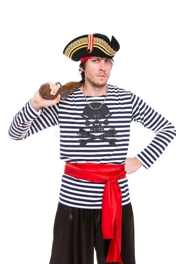 Portret van knappe piraat royalty-vrije stock afbeelding