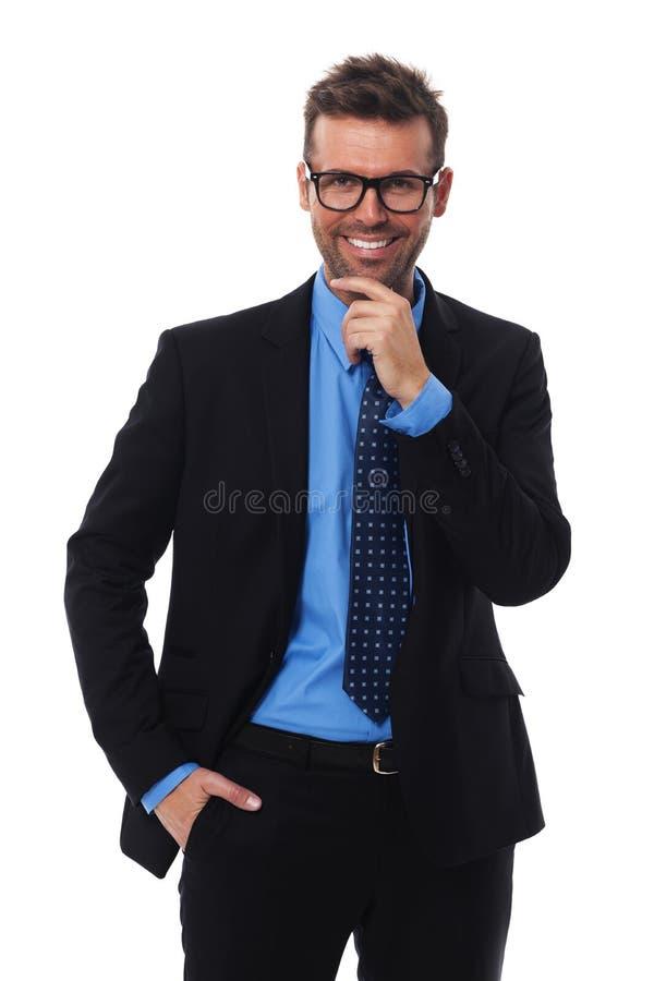 Portret van knappe zakenman royalty-vrije stock afbeeldingen