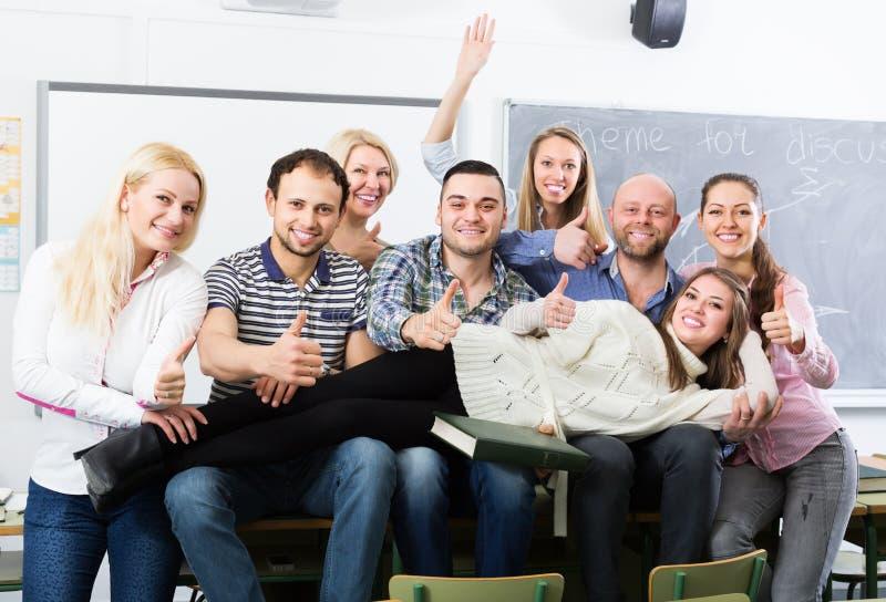Portret van leraar en studenten royalty-vrije stock fotografie