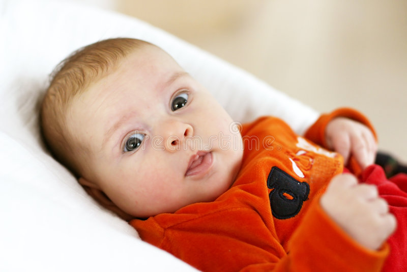 Portret van leuke baby stock foto