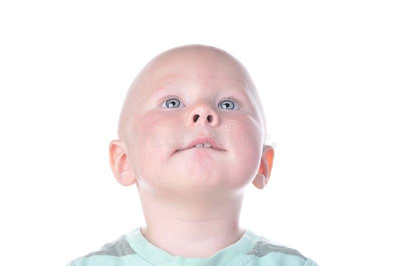 Portret van leuke babyjongen stock foto's
