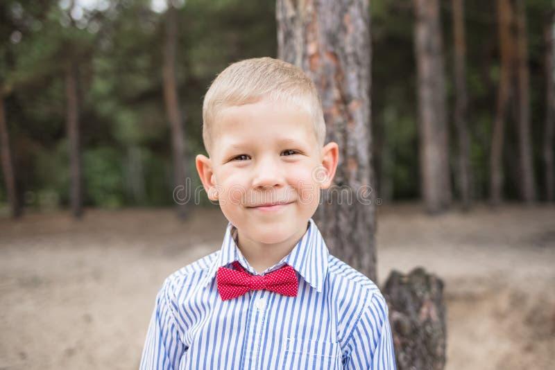 Portret van leuke grappig weinig Kaukasische jongen royalty-vrije stock fotografie