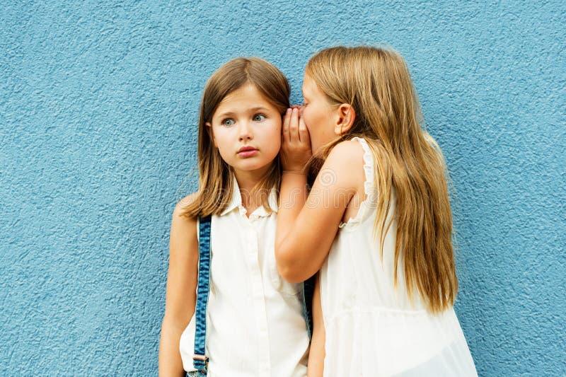 Portret van leuke meisjes royalty-vrije stock afbeelding